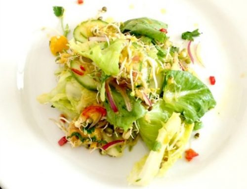 Fast Food Friday: Sprouty Salad w Mango & Chilli